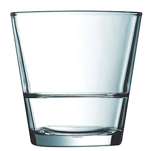 Arcoroc Stack Up Fully Tempered Old Fashioned Glass, 8.75 Ounce -- 24 per case. (Arcoroc Glass)