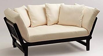 Amazon.com: Futon Convertible Sofa Daybed Deep Seating Adjustable ...