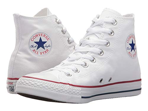 Converse Unisex Chuck Taylor All Star HI Basketball Shoe (7 B(M) US Women / 5 D(M) US Men, Optical White)