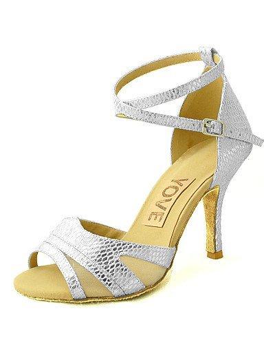 ShangYi Customizable Women's Dance Shoes Latin/Salsa Leatherette Customized Heel Black/Blue/Red/Silver/Gold Black vfJo9Tsla