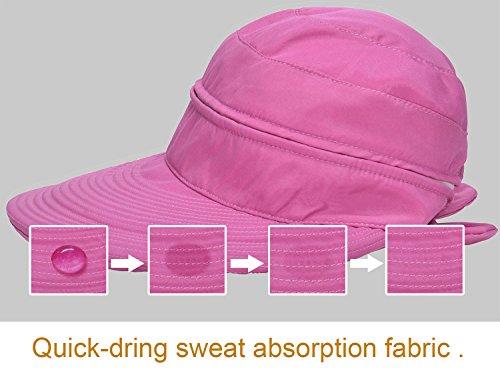 Verabella Women UPF 50+ UV Sun Protection Convertible 2 in 1 Visor Beach  Golf Hat 3728288d9851