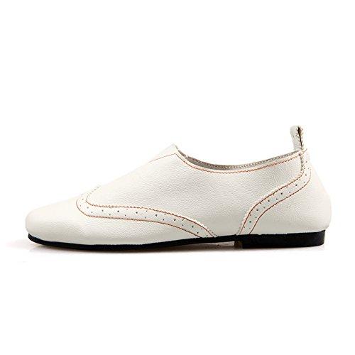 Zapatos casuales de la moda de verano/Zapatos de hombre pies tallados/Brock los zapatos de los hombres blanco