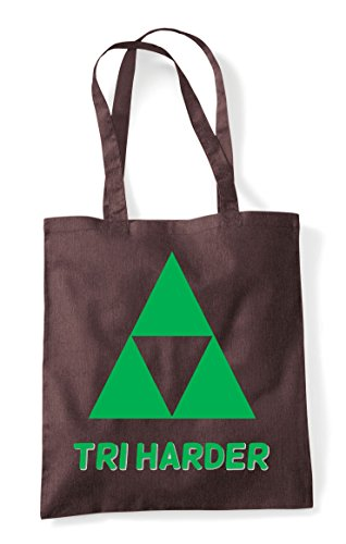 Gaming Statement Parody Tote Tri Bag Brown Try Harder Shopper 4x7UqfB