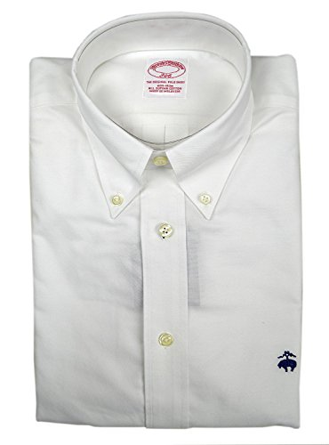 Brooks Brothers Men's 346 BrooksCool Supima Button Down Shirt White Small from Brooks Brothers
