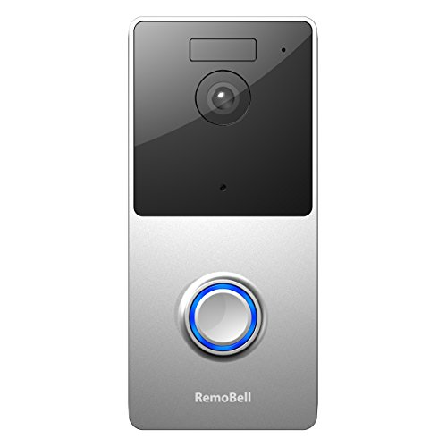 RemoBell WiFi Video Doorbell (Battery Powered, Night Vision, 2-Way Audio, HD Video, Motion Sensor)