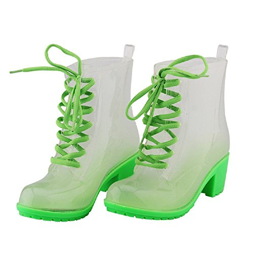 Fashion Martin anti-skid rain boots Green eLmlkz6co