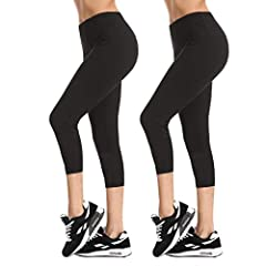 Features & Benefits               Our high waisted womens fashion leggings are designed for a sleek and sexy contour that hugs your waist and provides a slimming effect on your waist and midsection with the high and comfo...