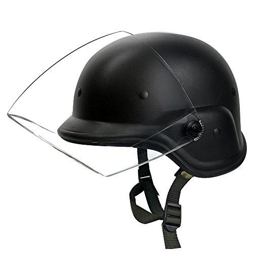 Tactical Military Airsoft M88 PASGT Kelver Swat Helmet with Clear Visor, (Tactical Airsoft Helmet)