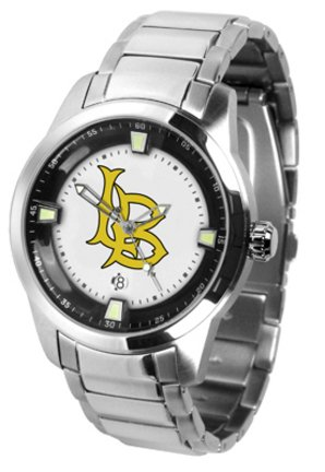 California State (Long Beach) Dirtbags Titan Steel Watch by SunTime