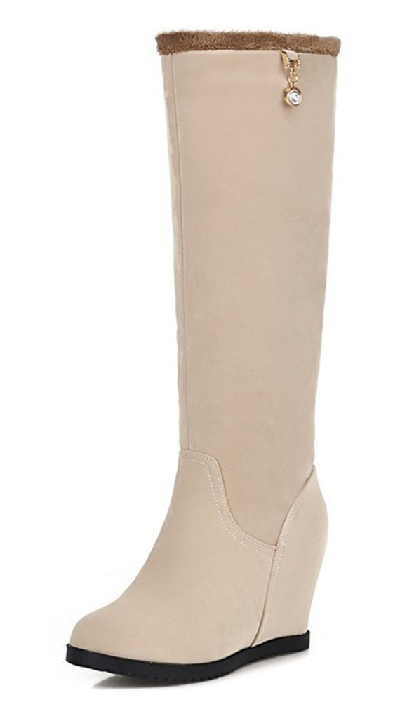 Easemax Cuissarde Femme Mode Cuissarde Beige Talon Easemax Compensé Bottes Beige bc69fca - therethere.space