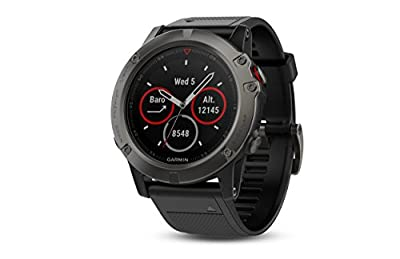 "Garmin 010-01733-01 1.2"" Fenix 5X Sapphire - Slate Gray with Black Band (EMEA)"
