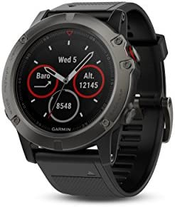 Garmin f nix 5X with Canada Maps, Premium and Rugged Multisport GPS Smartwatch, features Topo Mapping, Slate Gray, Renewed