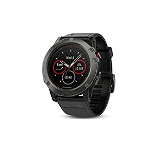 "Garmin 010 01733 01 1.2"" Fenix 5X Sapphire Slate Gray with Black Band (EMEA)"