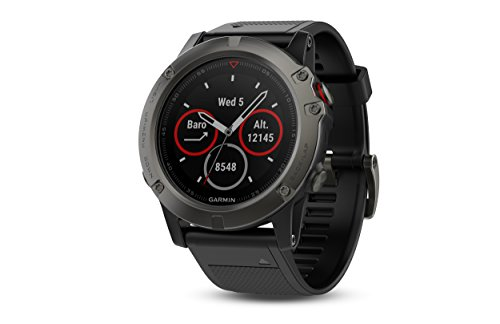 Garmin Fenix 5X Sapphire   Slate Gray With Black Band