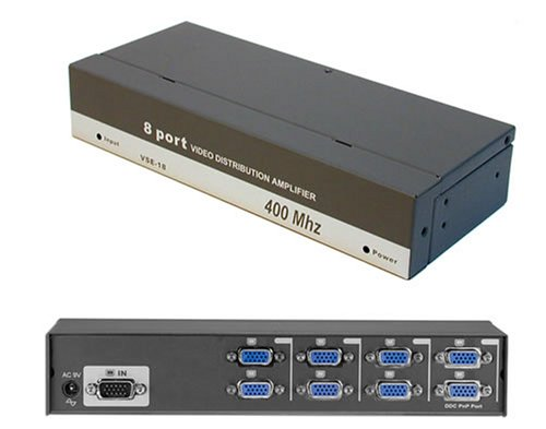 ConnectPRO VSE-18 8-Port Video Distribution Amplifier / Splitter (Multi Port 8 Channel)