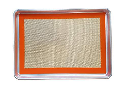 Keliwa's Commercial 18-Gauge Aluminum Half Sheet Pan & Silicone Baking Mat/Bakeware Set