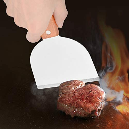 Barbecue Barbecue Pelle, en Acier Inoxydable Barbecue Grill Grattoir Cuisine Cuisson Steak Steak Pelle Frite Pancake Flipper