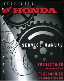 Honda Repair Manual TRX 350 FE FM TE TM Fourtrax Rancher 2x4 4x4: Honda  Motors: Amazon.com: Books | Trx350fe 2002 Wiring Diagram |  | Amazon.com