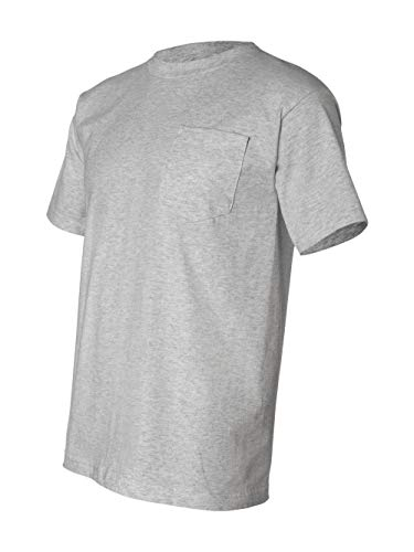 - Bayside Men's Classic Style Heavyweight Pocket T-Shirt, Dark Ash, XL