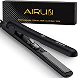 Best Flat Irons For African American Hairs - AIRUISI Ceramic Flat Iron for Hair, Professional Ionic Review