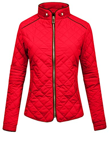 J. LOVNY Womens Lightweight Quilted Warm Zip Jacket/Vest with Pocket Details
