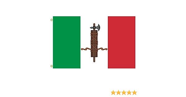 Gran bandera una narración de un típico bandera utilizado por fascistas italianos desde 1919 A 1926 con un fasces desfigurarlas el italiano Tricolor bandera al aire libre bandera bandera 3 x 5ft