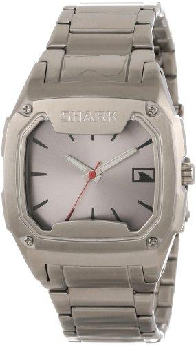 Mens Shark Killer Shark (Freestyle Men's 101817 Killer Shark Analog Triple Silver Bracelet Watch)