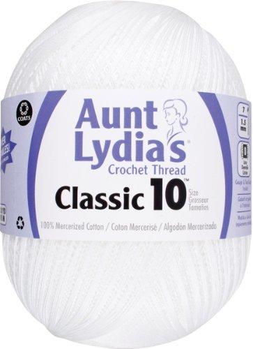 Brand New Aunt Lydia's Classic Crochet Thread Size 10 Jumbo-White Brand New by M1N4B5 (Image #1)