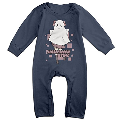 [Infant Halloween Time Costume Unisex Baby Onesie Babysuit Long-sleeve Navy 6 M] (Girls Festive Witch Costumes)
