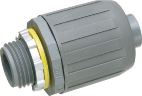 Arlington NMLT10-5 SNAP2IT Straight Connector for Liquid-Tight Conduit, Push-On Installation, 1-Inch, Non-Metallic, 5-Pack