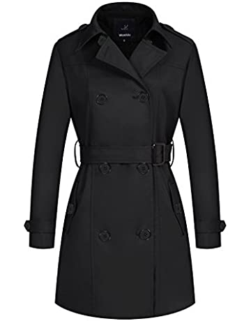 75db48eb5 Wantdo Women's Double-Breasted Trench Coat with Belt