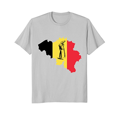 Mens Belgian Beer Drinking Monk T-shirt XL Silver Belgian Trappist Beers