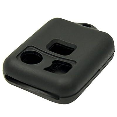 Keyless2Go New Silicone Cover Protective Cases for Remote Key Fobs FCC CWTWB1U345 CWTWB1U331 GQ43VT11T - Black: Automotive