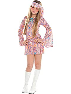 Childrens Hippy Boy Fancy Dress Costume 70S Hippie Flower Power Outfit 158Cm