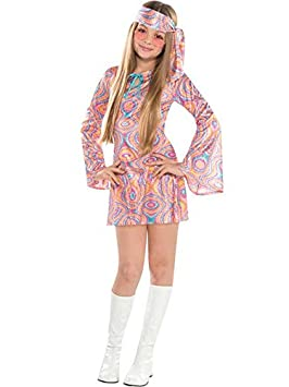 26dfabccc923 Disco Diva Teen Girls 1970s Fancy Dress 70s Childrens Costume Hippy Kids  Outfit (6-