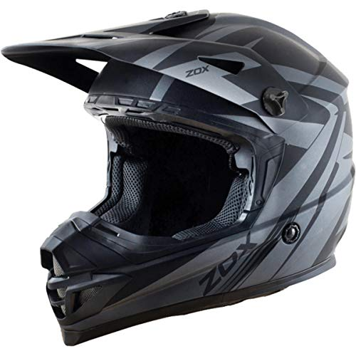 Zox Rush V2 Adult Off-Road Motorcycle Helmet - Matte Grey/Black/X-Large ()