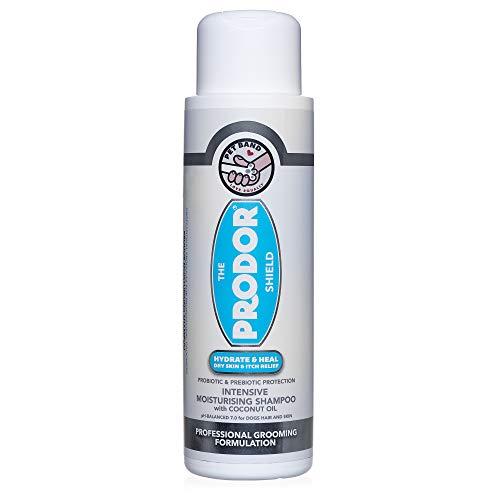 PRODOR Prebiotic Anti Itch Shampoo - for Dogs with Dry Skin & Sensitive Skin   A Natural Oatmeal Bath   Dog Probiotics Moisturize, Clean & Condition Hair   Coconut & Vanilla   Hypoallergenic 16 oz