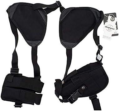 NO LOGO L-Yune, Nuevo al Aire Libre táctico Seguridad de la Policía Universal Izquierda Derecha Mano de la Pistola de la Bolsa de Hombro Pistolera for Glock 17 19 22 23 31 32 (Color : Black Color)