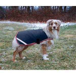Rambo Waterproof Dog Blanket 100g Medium Navy/Red