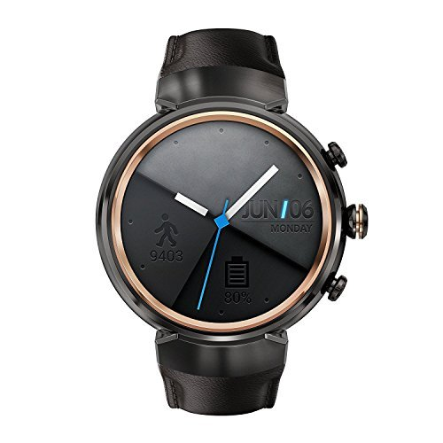 ASUS ZenWatch 3 WI503Q-GL-DB dark brown leather strap (Certified Refurbished) ()