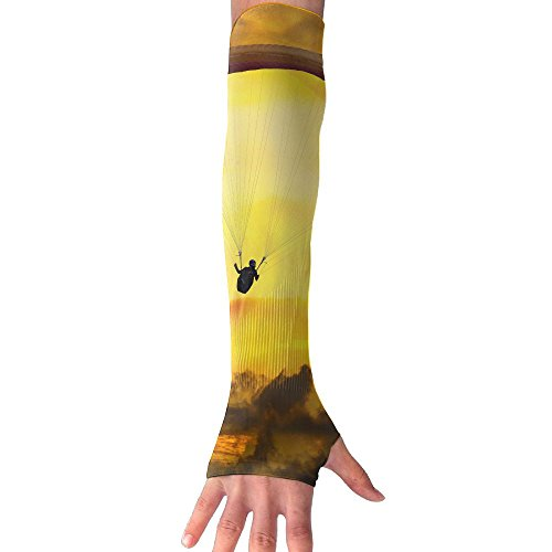 HBSUN FL Unisex Sunset Fly Parachute Paragliding Anti-UV Cuff Sunscreen Glove Outdoor Sport Riding Bicycles Half Refers Arm Sleeves by HBSUN FL