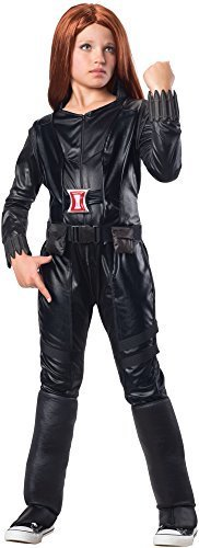 Rubies Marvel Comics Collection: Captain America: The Winter Soldier Deluxe Black Widow Costume, Child (Black Widow Costumes Girl)