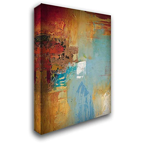 Aqua Illusion 2 34x52 Extra Large Gallery Wrapped Stretched Canvas Art by Villarreal Villarreal, Gabriela