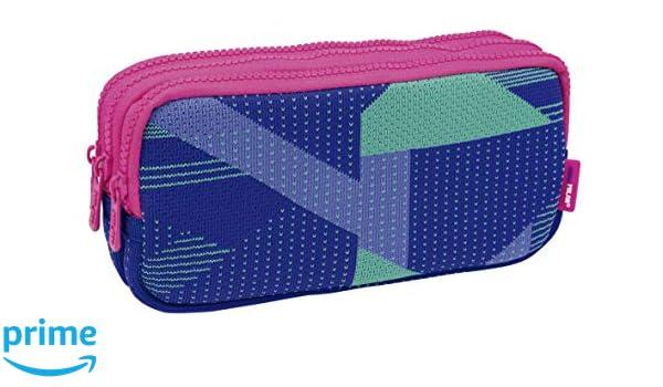 Milan Portatodo 3 Cremalleras Knit, Lila Estuches, 22 cm, Lila y ...