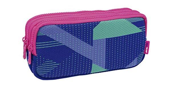 Milan Portatodo 3 Cremalleras Knit, Lila Estuches, 22 cm, Lila y Verde: Amazon.es: Equipaje