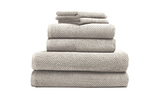 Coyuchi Air Weight Organic 6pc Towel Set, BT, HT, WC, Undyed by Coyuchi