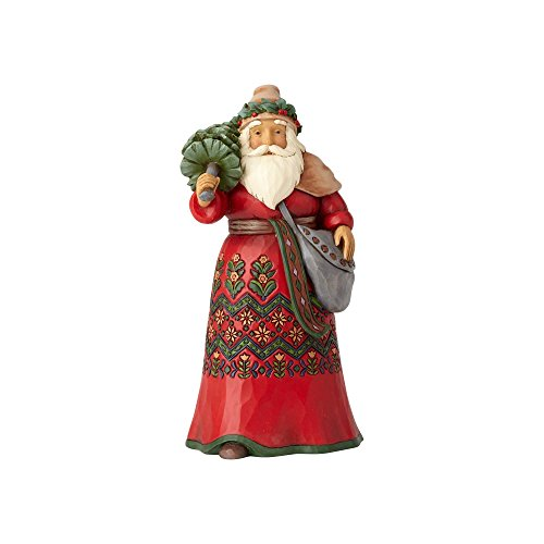 Enesco Jim Shore Heartwood Creek Santa's Around The World Sweden Stone Resin, 7