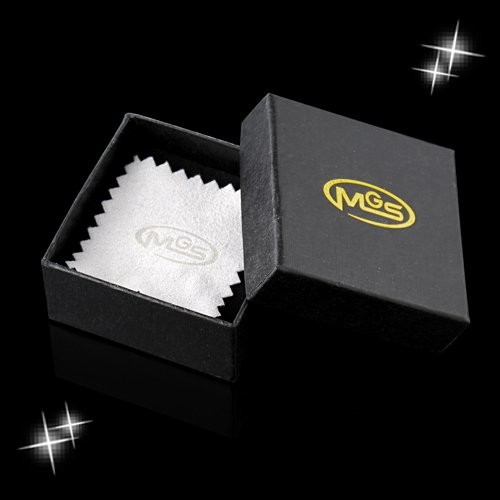 MGStyle Tie Bar Pinch Cilp For Men - 2.16 Inch For Regular Ties - the Old Glory Stars & Stripes American Flag - Gold Tone - Stainless Steel with Deluxe Gift Box by MGStyle (Image #4)