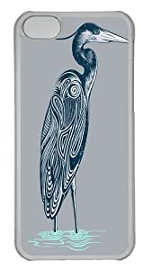 Lmf DIY phone caseiphone 5c Case, iphone 5c Cases -Bewitching blue heron Polycarbonate Hard Case Back Cover for iphone 5c TransparentLmf DIY phone case