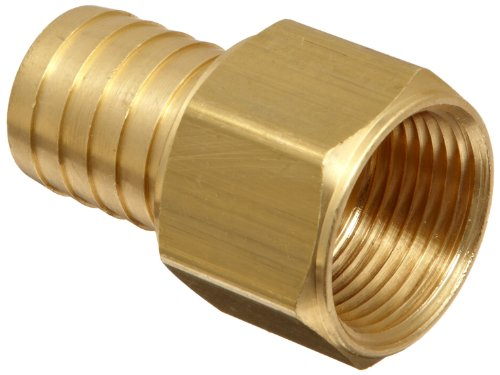 Barbed Hose Adapter - Dixon BF88 Brass Hose Fitting, Solid Nipple, 1